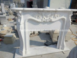 Camino di marmo intagliato mano bianca pura (SY-MF232)