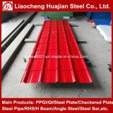 Cor da chapa de aço corrugado galvanizado revestido para coberturas