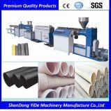 Cadena de producción plástica del tubo del drenaje subterráneo de PVC/PE/PPR