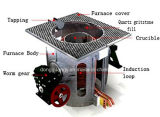 Four à fusion inductive industrielle pour fonte, aluminium, laiton