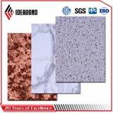 Панель текстуры 4mm камня полиэфира приемной алюминиевая составная (AE-506)