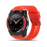 小売りパッケージが付いている人間の特徴をもつ電話マイクロSIM TFカードのための自由な出荷のV8のスマートな腕時計のBluetoothの腕時計のアンドロイド0.3mのカメラMtk6261d Smartwatch