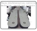 Cuadrado automático y máquina de etiquetado pegajosa de doble cara de la escritura de la etiqueta de la botella plana
