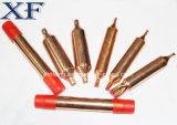 El cobre hizo el tubo del acumulador para la varia talla
