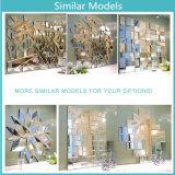 Lado para entalhar formato pentagonal espelho decorativo de parede Art
