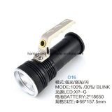 Projector do alumínio do diodo emissor de luz do CREE XP-G da bateria de lítio 4*18650