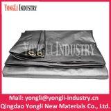 160GSM Waterproof o encerado poli preto 3mx4m de prata reusável