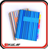 Carnet spirale avec couvercle en plastique (KCx-00186)