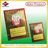 Preis-Schild-hölzerne Plakette mit kundenspezifischem Metallplatten