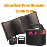 パワー・パックは20W Foldable太陽電池パネルとの移動のためにセットした