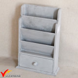 Antique Magazine Holder Design Rack de livros de madeira