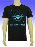 T-shirt CVC haute qualité personnalisé à la mode pour hommes