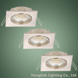 Quadrato Downlight del riflettore dell'alogeno LED del soffitto messo MR16 di inclinazione GU10