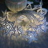 10 La estrella de metal de LED blanco cálido de la luz de hada de la batería