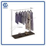 Магазина магазина одежды металла полки стеллажей для выставки товаров оптового подходящий