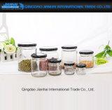 Redondos simples Alimento-Usam o atolamento de vidro, frasco do mel com tampão do Tinplate