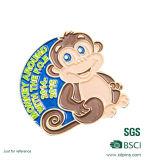 Insigne de singe plaqué par or fait sur commande en métal