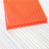 Feuille jumelle colorée de cavité de polycarbonate de mur pour la feuille de toit