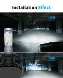 Super Bright 8000lm 9007 Carro com faróis LED balastros HID e luz automática