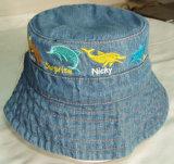 Nueva promoción de los niños de la moda Denim preciosos bordados Tapa de pesca