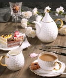 ヨーロッパの骨灰磁器のコーヒーカップの茶陶磁器のティーカップのイギリスの世帯のコーヒーセット
