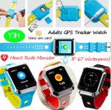 Volwassen GPS Slim Horloge met de Monitor van het Tarief van het Hart Y3h