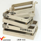 Cheap Rustic Distressed Wooden Apple Crates Wholesale