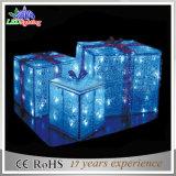 Luz de la Navidad impermeable de la decoración de la boda del adorno del rectángulo de regalo del LED 3D