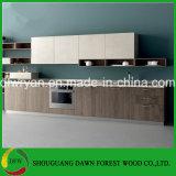 Gabinete de cozinha moderno barato da porta da melamina para a alta qualidade