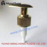 Pompa dorata della lozione per la bottiglia cosmetica