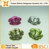 Placcaggio del supporto di ceramica del candeliere del fiore per la decorazione domestica