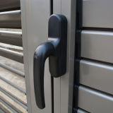 De alta calidad de polvo de aluminio recubierto Perfil de ventana de bisagras abatibles y obturador K03047