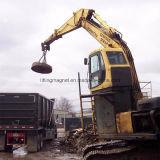 Ímã de elevação circular para o levantamento de aparas de papéis da escavadeira
