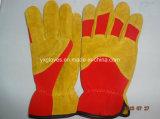 Cuir Glove-Mechanic Glove-Work Glove-Industrial Gant Glove-Cheap Glove-Gloves-industriel