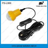 Mini lanterna solare qualificata 4500mAh/6V con il caricatore del telefono mobile e lampadina per stanza (PS-L069)