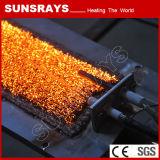Riscaldatore infrarosso industriale del bruciatore con il bruciatore della fibra del metallo