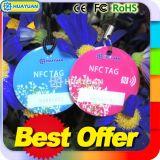 13.56MHz NFC NTAG213 intelligentes Keychain Epoxid-RFID Keyfobs
