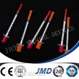 sterile Wegwerfspritzen des Insulin-1ml mit örtlich festgelegten Nadeln