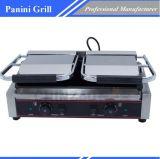 Commercial Sandwich Pan Press Panini Grill Placa Doble aprobado CE