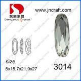 Fabrik-dekorative facettierte ovale Kristallraupen für Kleid-Zubehör