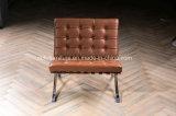 Entwerfer-Anilin-Leder-Möbel-Büro-Barcelona-Stuhl