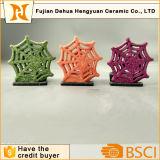 Christams Snowflake Shape Ceramic Candle Holder, Decoração para casa