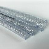 Água de alta qualidade trançado de fibra de PVC transparente de alta pressão do tubo de borracha de água do tubo de borracha flexível