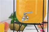 Dispensador de cristal de la bebida de la venta 4L/5L/8L del jugo del tarro caliente del almacenaje
