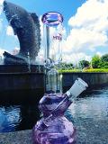 Chegada nova 10 '' quatro espessura da tubulação de água 7mm de Downstem da árvore do braço, tubulações Inline do vidro do Percolator