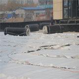 Scheda verde di drenaggio dell'HDPE del giardino di tetto con il geotessuto lungo della fibra