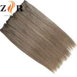 Brown colore o cabelo brasileiro humano de Remy de trama