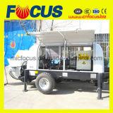 Pompa per calcestruzzo del rimorchio idraulico, pompa per calcestruzzo montata rimorchio del Electromotor 69m3/H