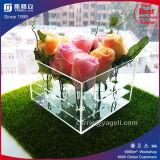 Vaas van de Kleur van de douane de Witte/Oranje/Duidelijke Acryl