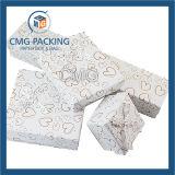 3 rectángulos cosméticos de los rectángulos de regalo de la cartulina de las tallas con la cinta